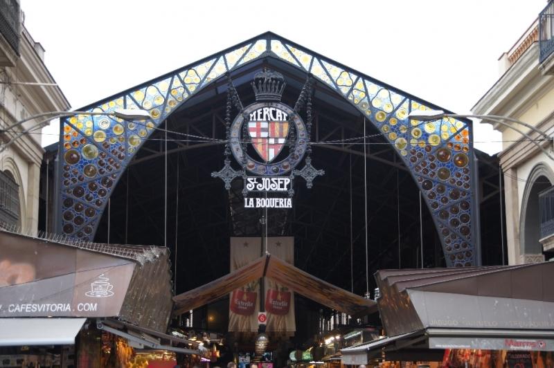 "Markthalle an der ""La Rambla"""