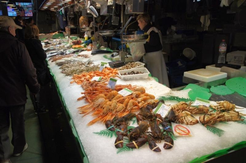 Fisch in sehr reichhaltiger Auswahl.