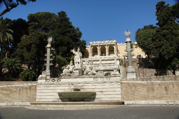 Der Brunnen der Göttin Roma