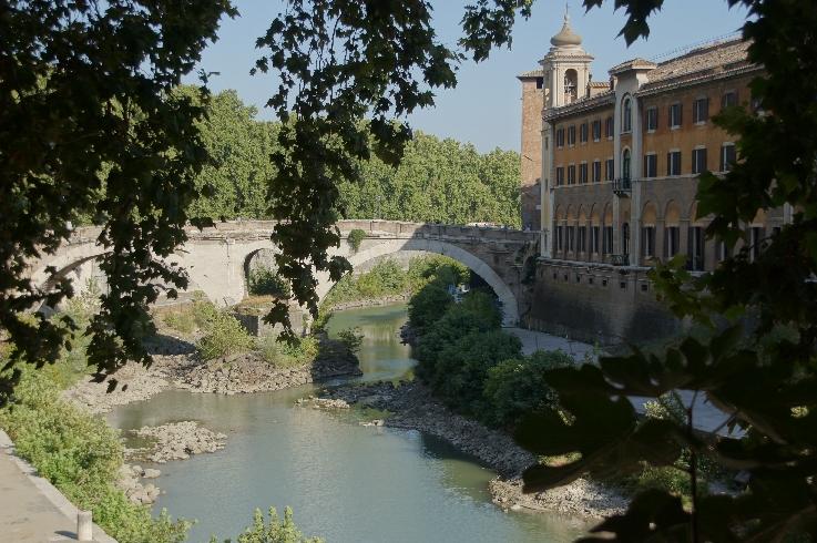 Tiberinsel mit Ponte Fabricio