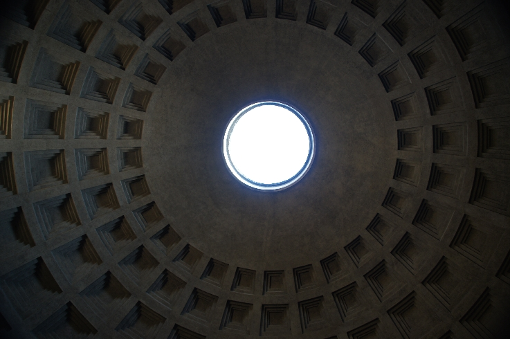 Blick in die Kuppel des Pantheon