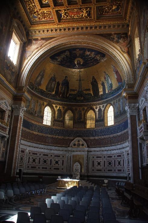 Apside der Basilika San Giovanni in Laterano. Kathedra des Papstes als Bischof von Rom (Apsis der Basilika)