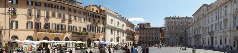 Panoramaansicht des Platzes