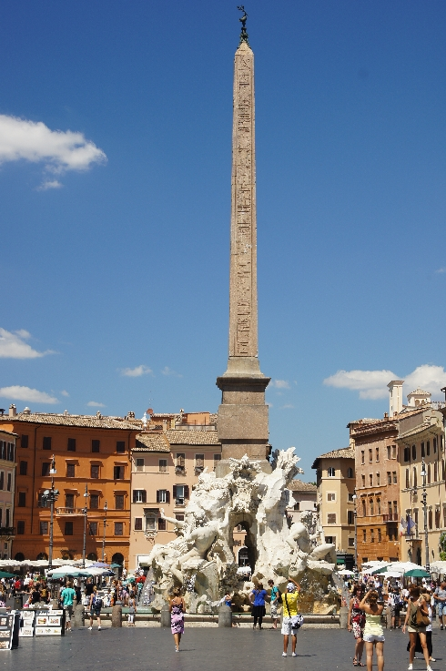 Fontana dei Fiumi Brunnen mit Obelisk