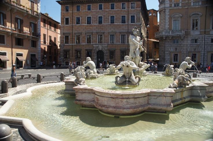Fontana del Moro Brunnen