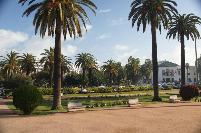 Schöner Park vor Justizpalast