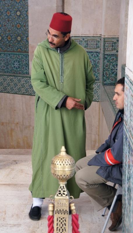 Ein sehr freundlicher Marokkaner, der sich gerne auch in Tuchfühlung fotografieren lies.