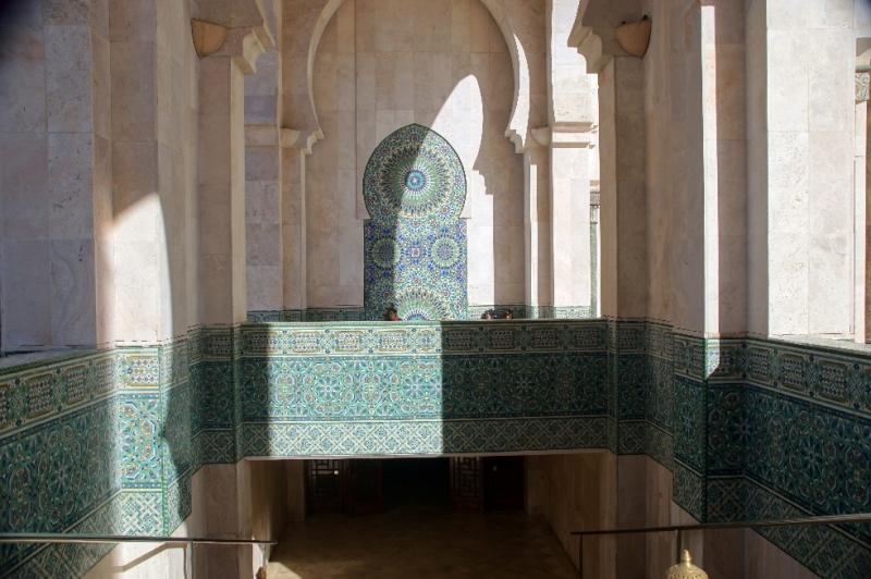 Sehr aufwendige Mosaike auf dem Abgang zu den Bädern