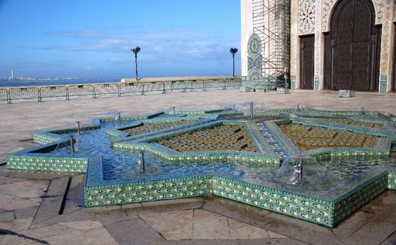 Sehr schöner Brunnen vor der Moschee