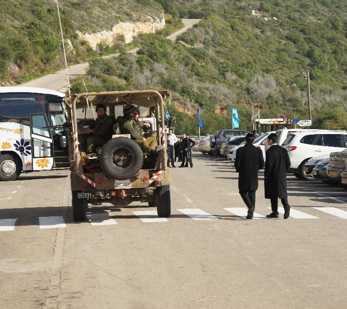 Es waren zwar Sicherheitskräfte vor Ort, aber die Grenze selber war unbewacht.