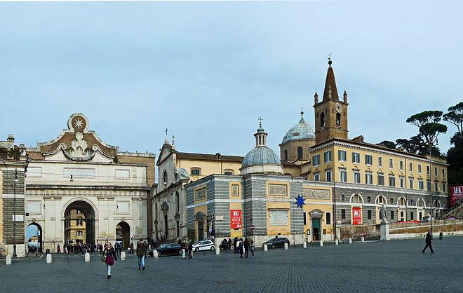 Piazza Popolo und Santa Maria del Popolo