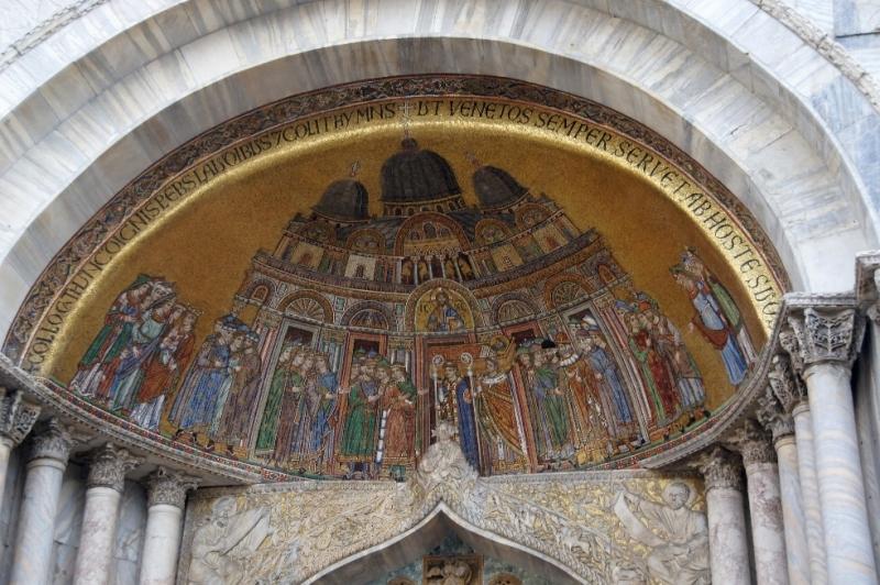 Fassadenmosik Dom Venedig