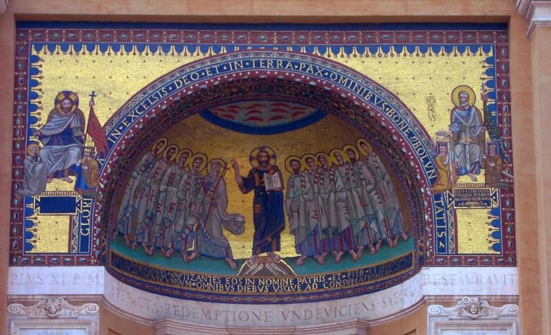 Mosaik im Triclinum