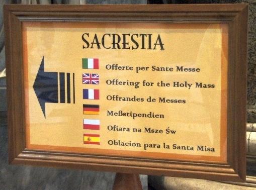 Da gehts zur Sakristei