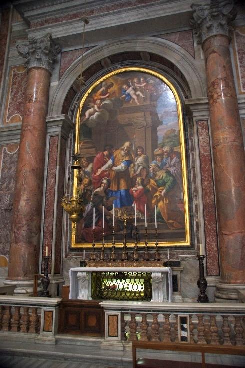 Grab Pius X., Altarbild Tempelgang Mariä, Petersdom