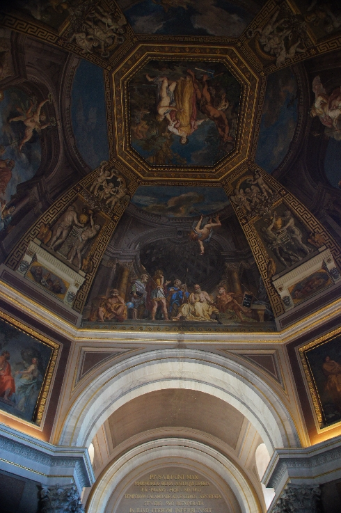 Deckengemälde im Sala delle Muse in den Vatikanischen Museen.