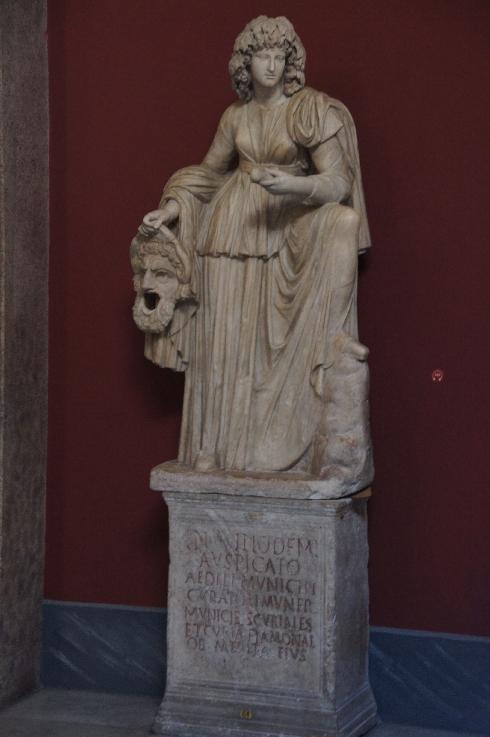 Melpomene, Muse der Tragödie.