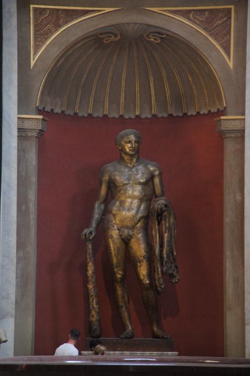 Man fand ihn 1864 in der Nähe des Pompejus-Theaters und schenkte ihn wenig später Papst Pius IX..