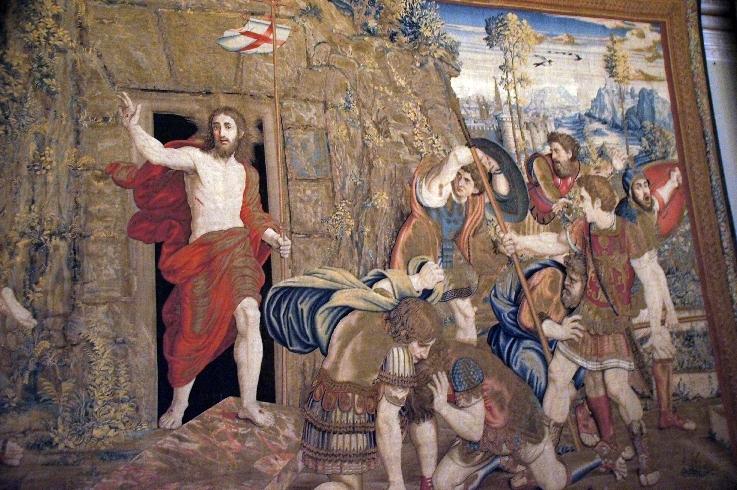 Die Auferstehung Christi Wandteppich in der Galleria degli Arazzi