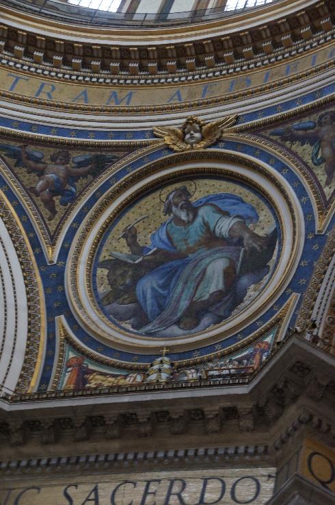 Markus mit dem Löwen Eine der Darstellungen am Rande der Kuppel