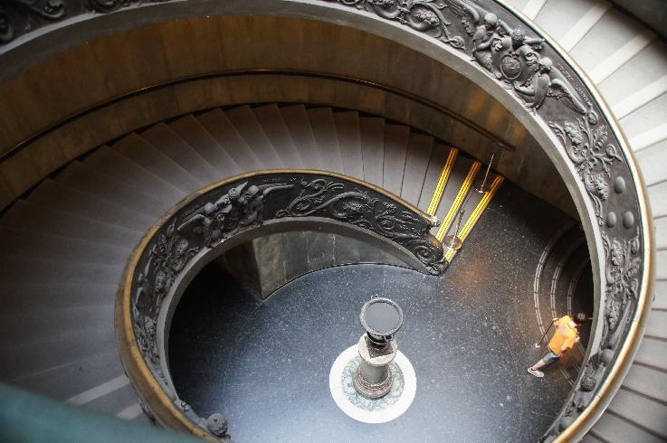 Wendeltreppe zum Vatikanischen Museum