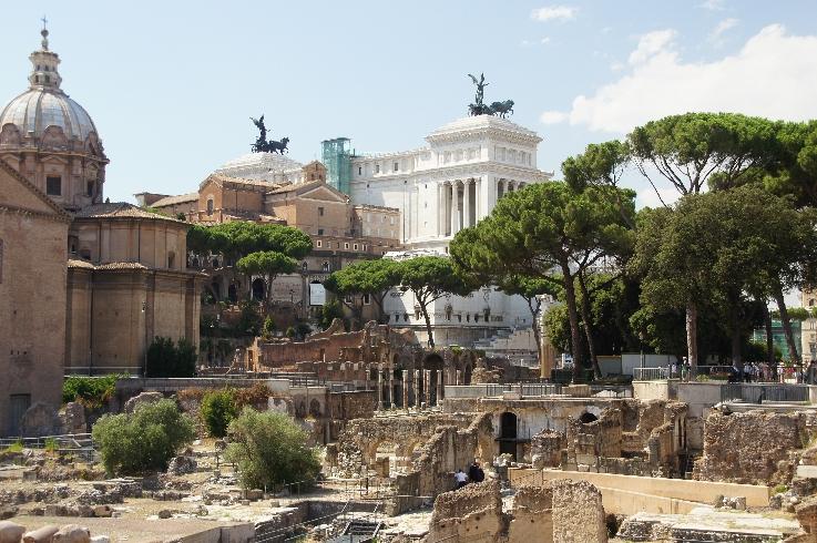 Sicht auf Monument Vittorio Emanuele