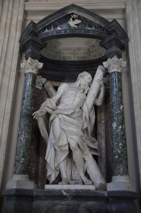 Apostel Andreas Bildhauer: Camillo Rusconi (erstellt: 1705-1709)