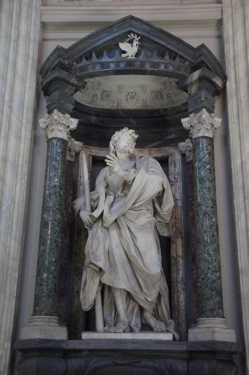 Apostel Jacobus der Jüngere Bildhauer: Angelo de' Rossi (erstellt: 1705-1711)
