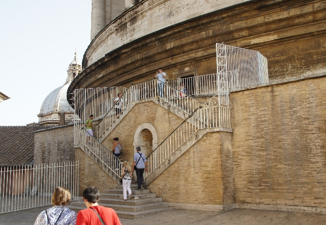 Auf dem Dach des Petersdoms