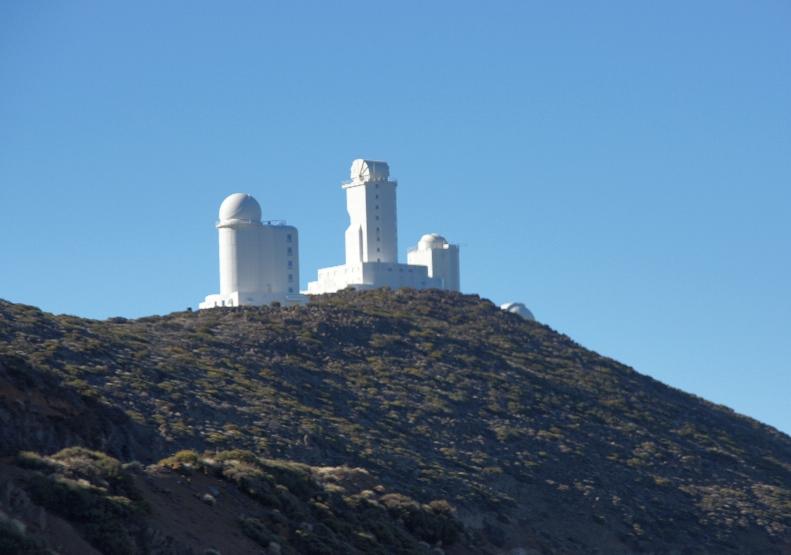 Observatorium del Teide die Sternwarte auf dem Berg Izana, auf 2400 Meter Seehöhe