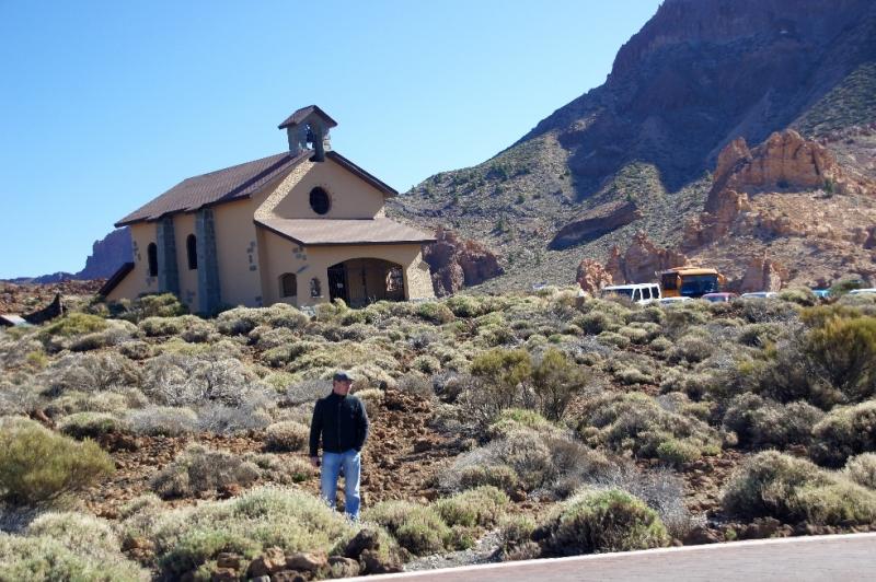 Wallfahrtskirche Las Nieves am Rande der Caldera