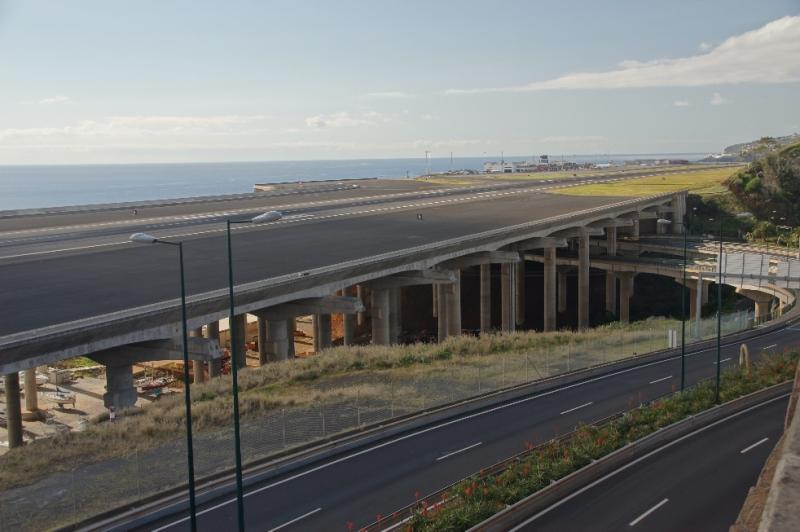 Der Flughafen von Madeira