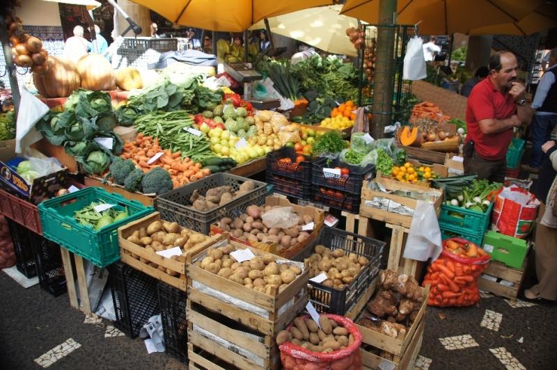 Markthallen Stand in Funchal