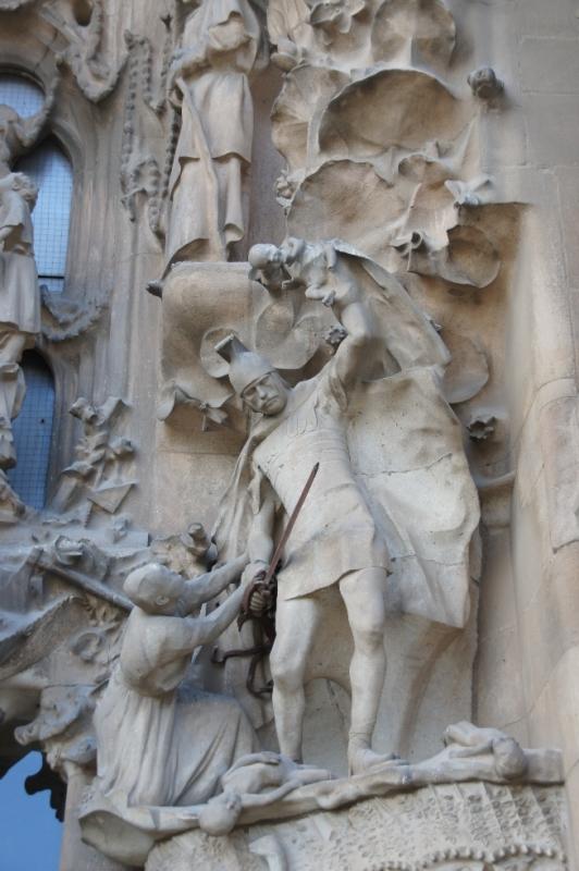 Darstellung des Mordes an Kindern durch Herodes