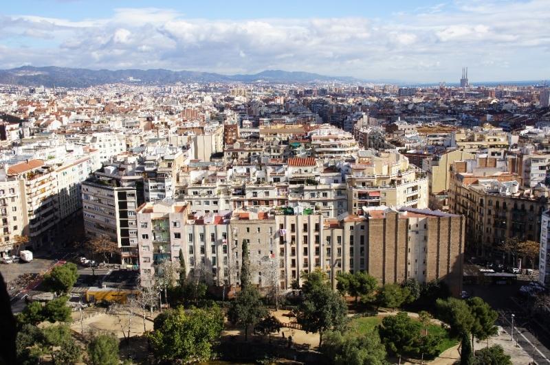 Blick über Barcelona vom Turm aus.