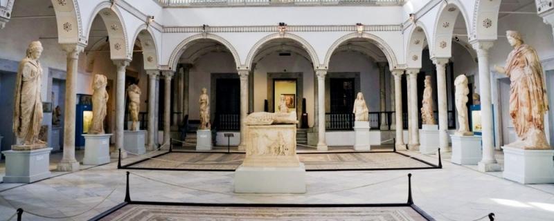 Der Saal mit Kunstschätzen Karthagos