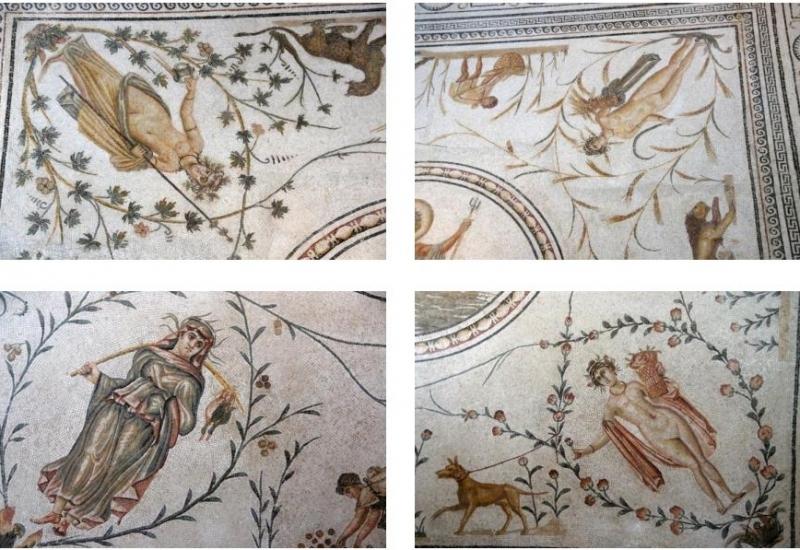 Der Reichtum des römischen Afrika basierte auf Landwirtschaft. So wundert es nicht, dass die vier Jahreszeiten eine Darstellung der verschiedenen Phasen der landwirtschaftlichen Arbeiten ist.