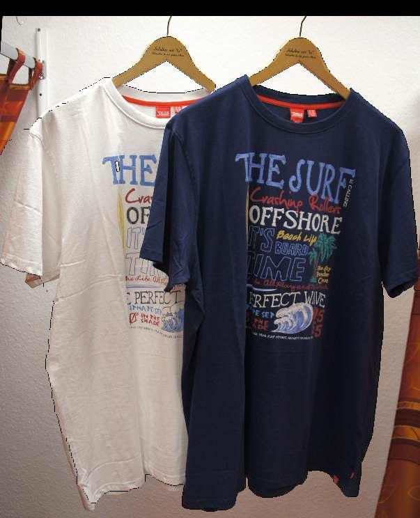 T-Shirts mit Druck in vielen verschiedenen Variationen.