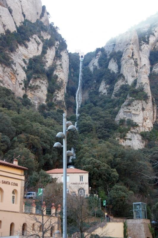 Funicular de Sant Joan: Das ist die Standseilbahn zum Gipfel Sant Joan, von dort kommt man zum 1236 m hohen Gipfel Sant Jeroni.