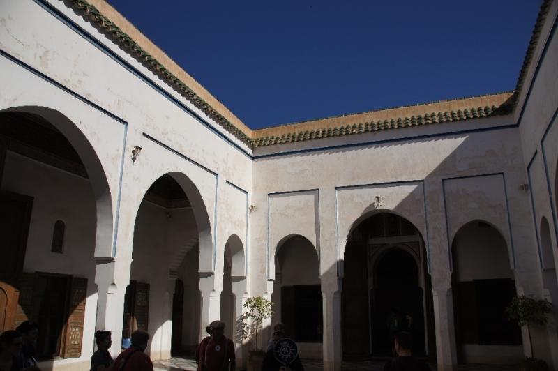 Das ist der Innenhof des Bahia Palastes
