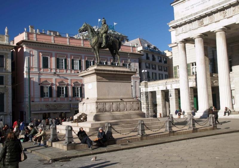 Reiterstandbild von Giuseppe Garibaldi und im