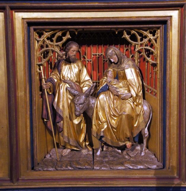 Maria und Josef auf dem Weg zur Volkszählung. Übrigens rief dazu ein Quirinius auf. Der Statthalter Roms im Osten war er aber im Jahre 6 n. Chr. Geburt. Ist Jesus Christus deshalb im Jahr 6 nach Christus geboren? Forscher sind sich uneinig.