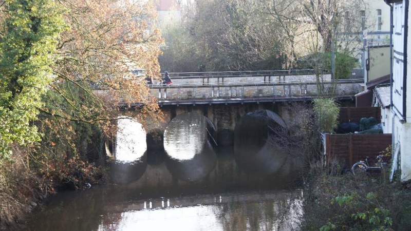 Blick auf die Angersbrücke
