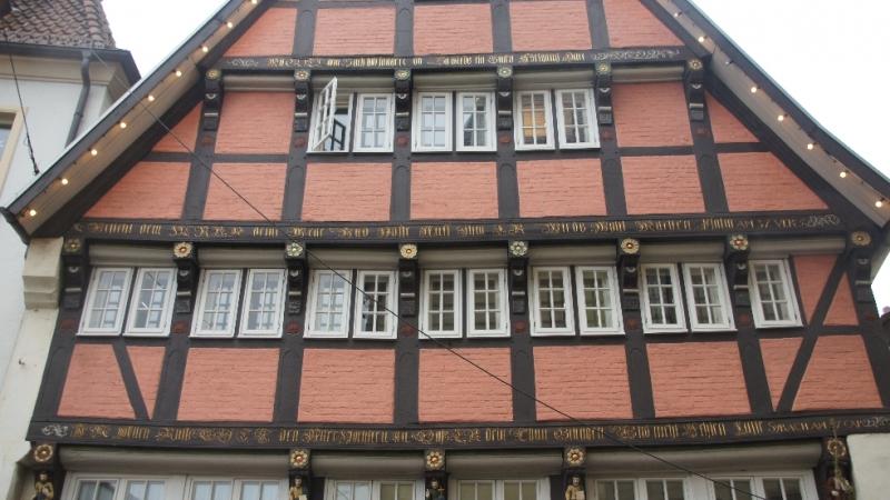 Inschriften der Balken Hotel Walhalla