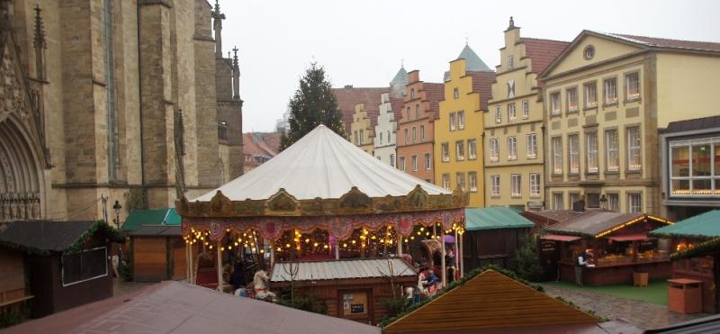 Der Weihnachtsmarkt auf dem Marktplatz
