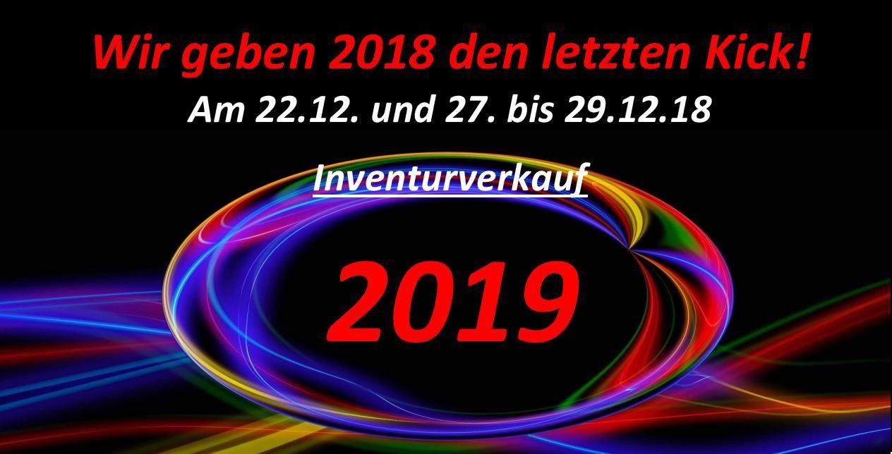Inventurverkauf 2018